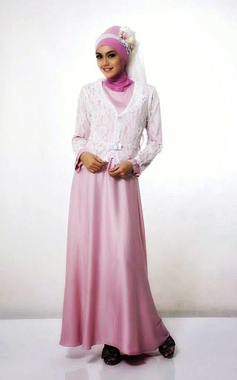 Baju muslim brokat gamis paling populer model baju Baju gamis vamosh