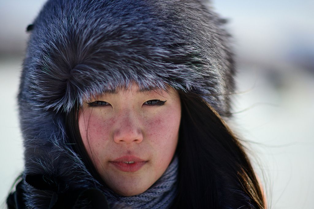 Ethnic Even girl Topolinoe village Verkhoyansk mountains Yakutia Siberia Russia [1024  683 ]