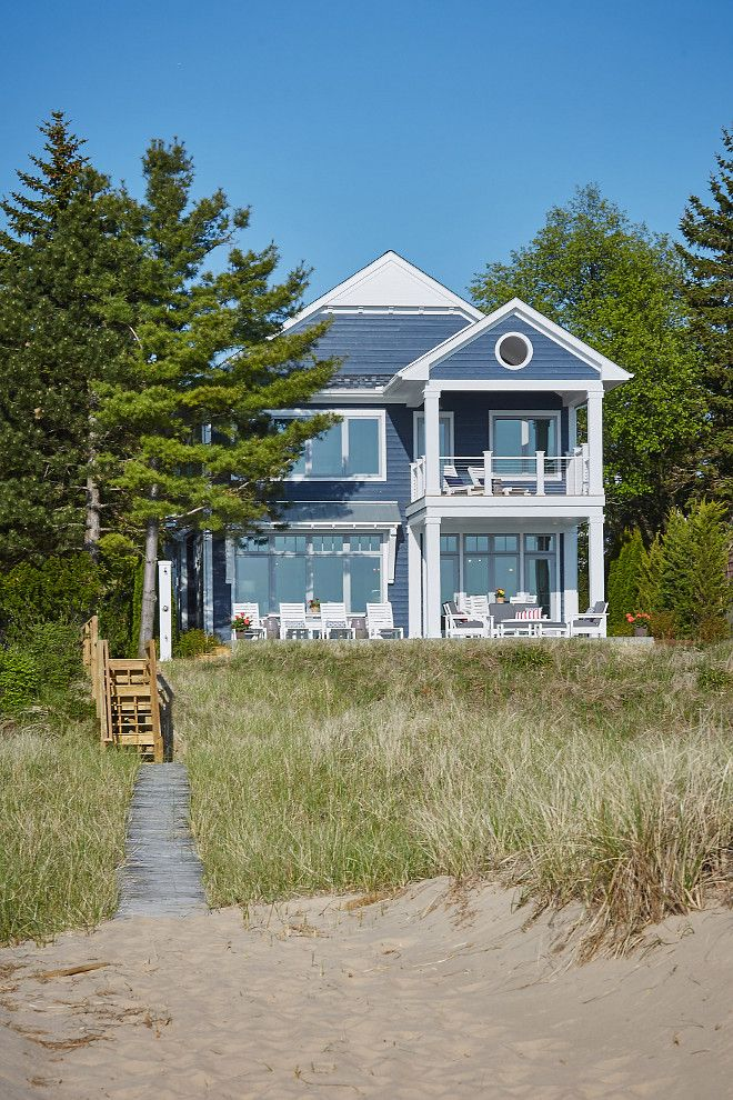 Lake Michigan Dream Vacation Home Home Bunch An Interior Design Luxury Homes Blog Lake Front House Plans Beach House Design Beach Cottage House Plans