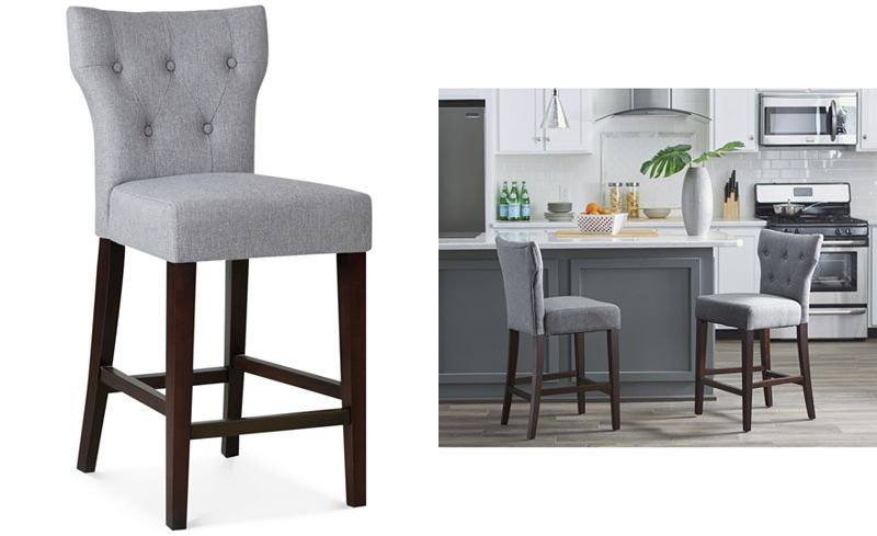 macy stool chair grey seat cushions for office chairs cohan tufted counter quick ship s 25 floor to height 150ea