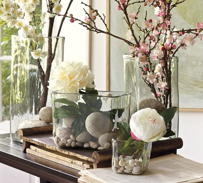 Recycled Glass Square Vases Square Vase Vases Decor Spring Decor