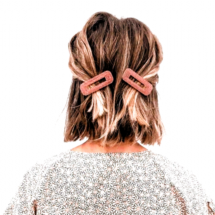 2 Stuck Retro Pink Glitter Resin Haarspangen Clips In Pink Clips Glitter Haarspangen Pink Resin Retro Hair Styles Thick Hair Styles Short Hair Styles