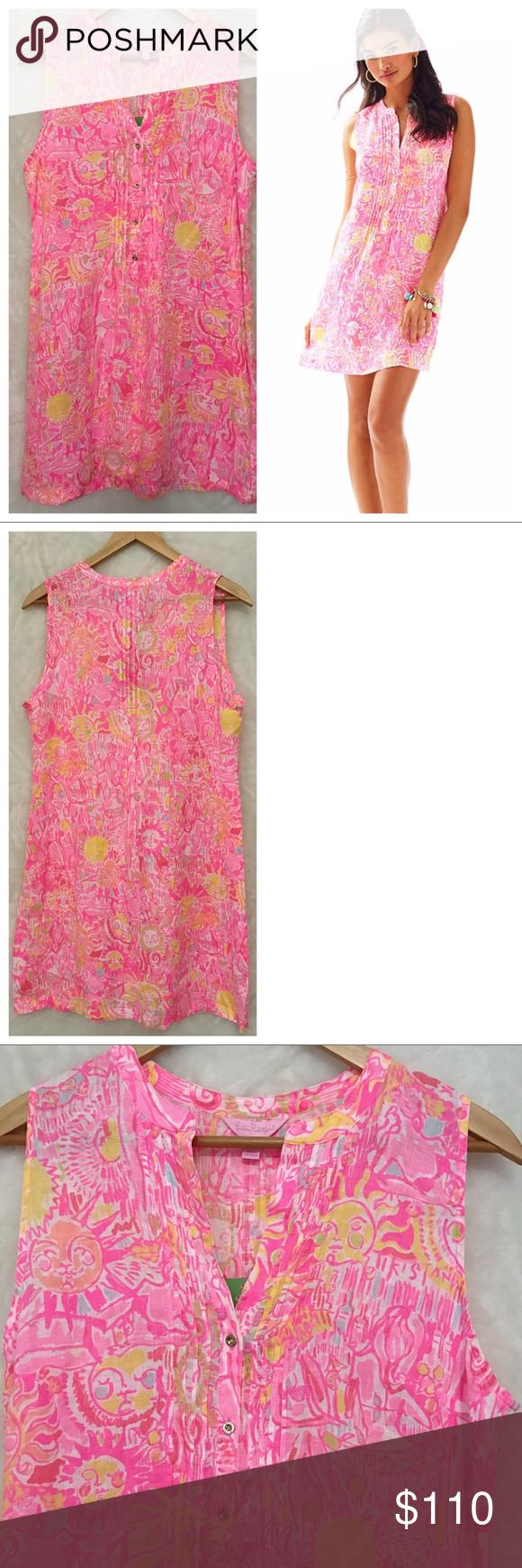 LILLY PULITZER] Pink Linen Sarasota Tunic Dress