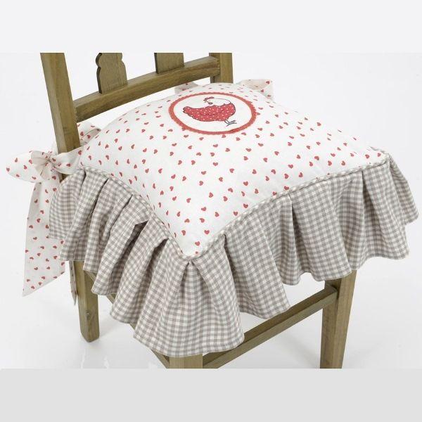 galette de chaise campagne chic amadeus coussins et galette de chaise pinterest. Black Bedroom Furniture Sets. Home Design Ideas