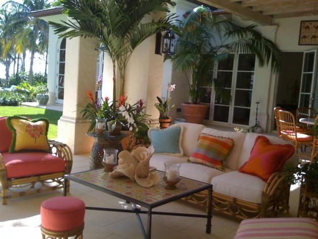 Palm Beach Outdoor Living Room Lanai Decorating Summer Patio