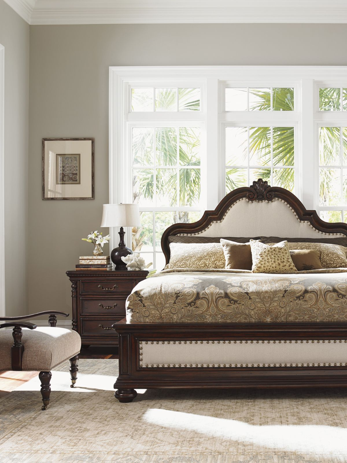Tommy Bahama Kilimanjaro Barcelona Panel Bed   A Grand Bed Fit For Royalty,  The Tommy Bahama Kilimanjaro Barcelona Panel Bed Brings Regal Comfort And  Style ...