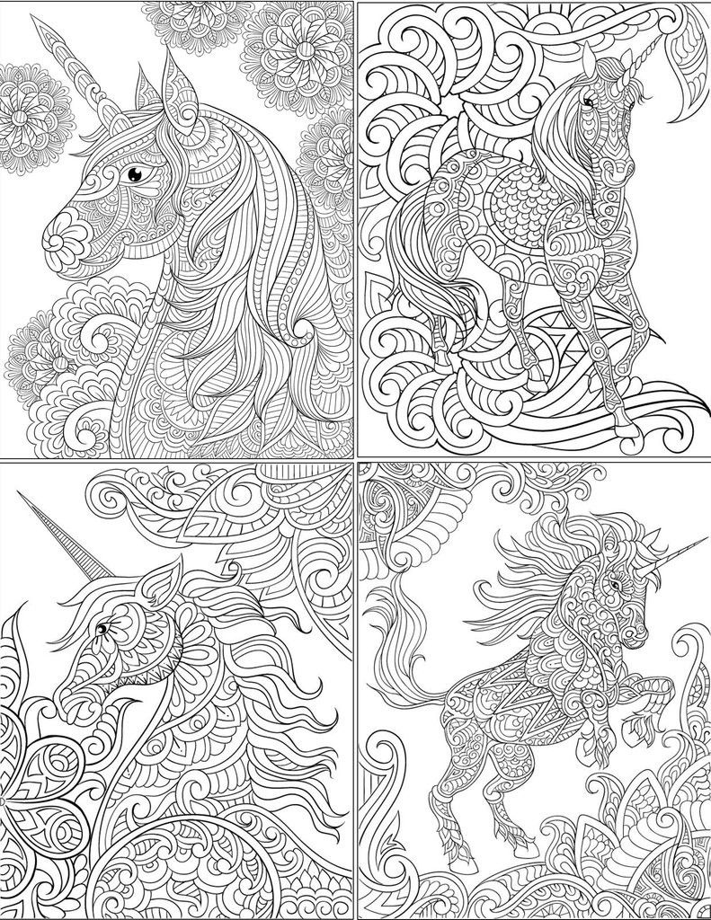 Pin On Unicorn Coloring Page