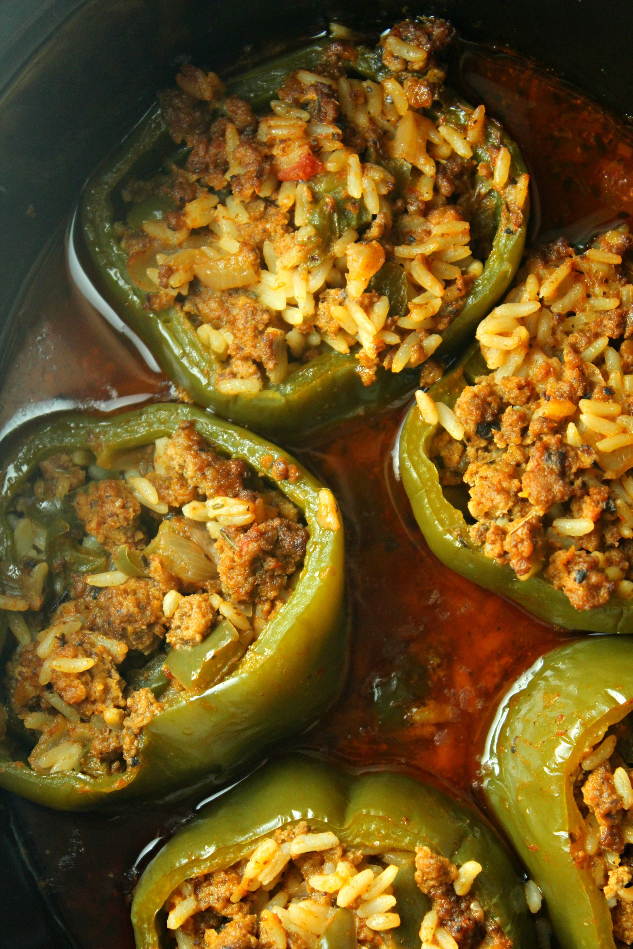 Slow Cooker Stuffed Peppers Recipe Stuffed Peppers Recipes Crockpot Recipes Beef