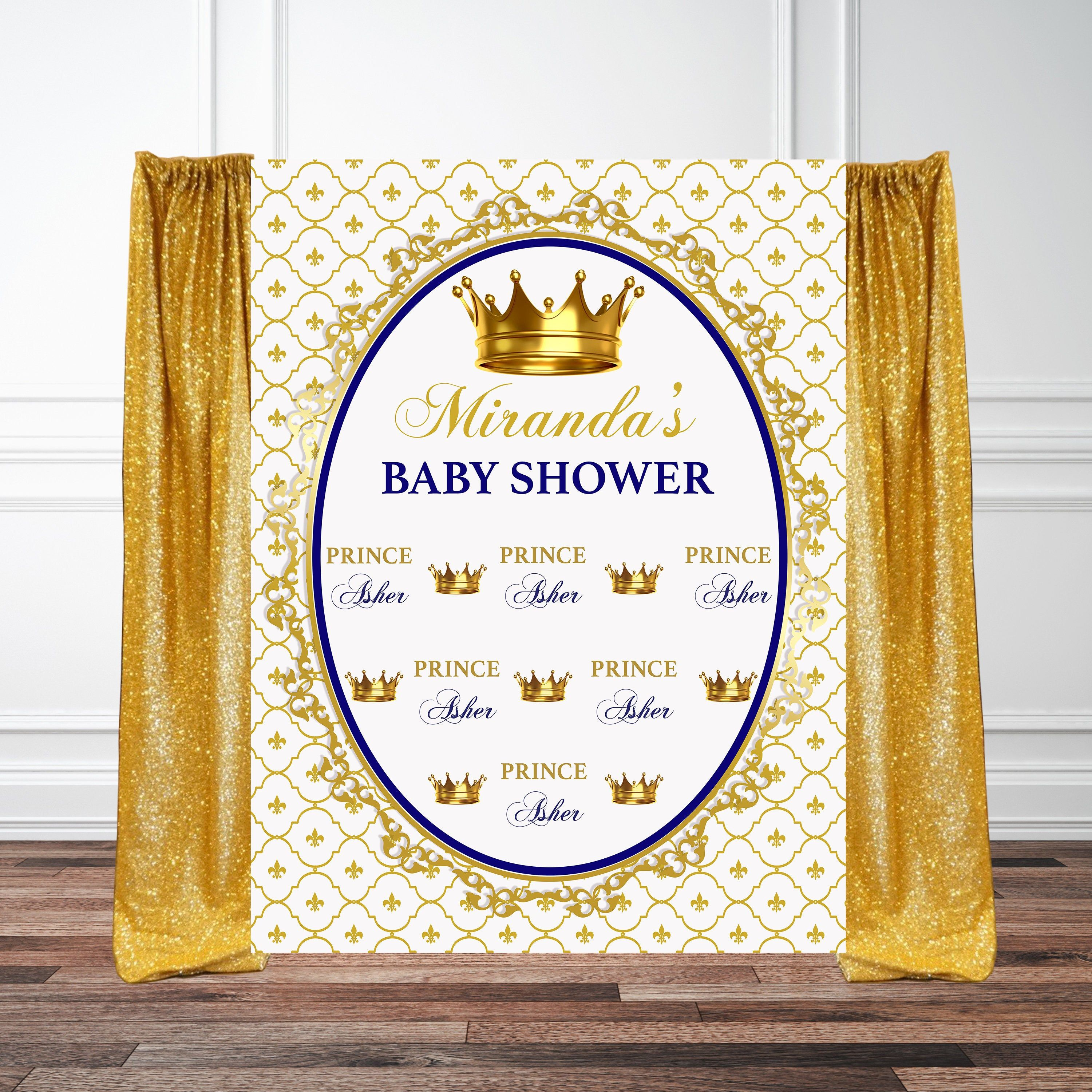 prince baptism birthday baby shower backdrop cross photo booth backdrop step and repeat backdrop royal baby tiara crown
