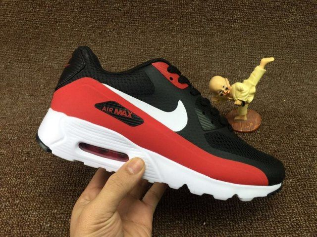 reputable site 0a1c4 c7d8d Mens Nike Air Max 90 Ultra Essential Running Shoes Black Red White 819474  002