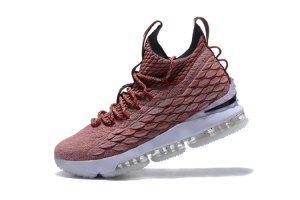 46612b89489 Mens Nike Lebron 15 XV Burgundy White 897648 600 Basketball Shoes ...