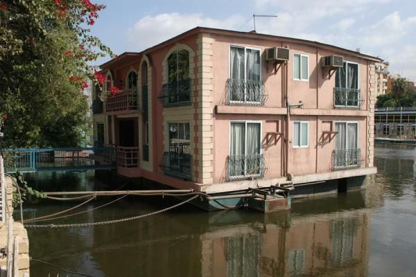 Small Houseboats With Plants | Picture Of Houseboats (Egypt): Houseboat  Reflected In The