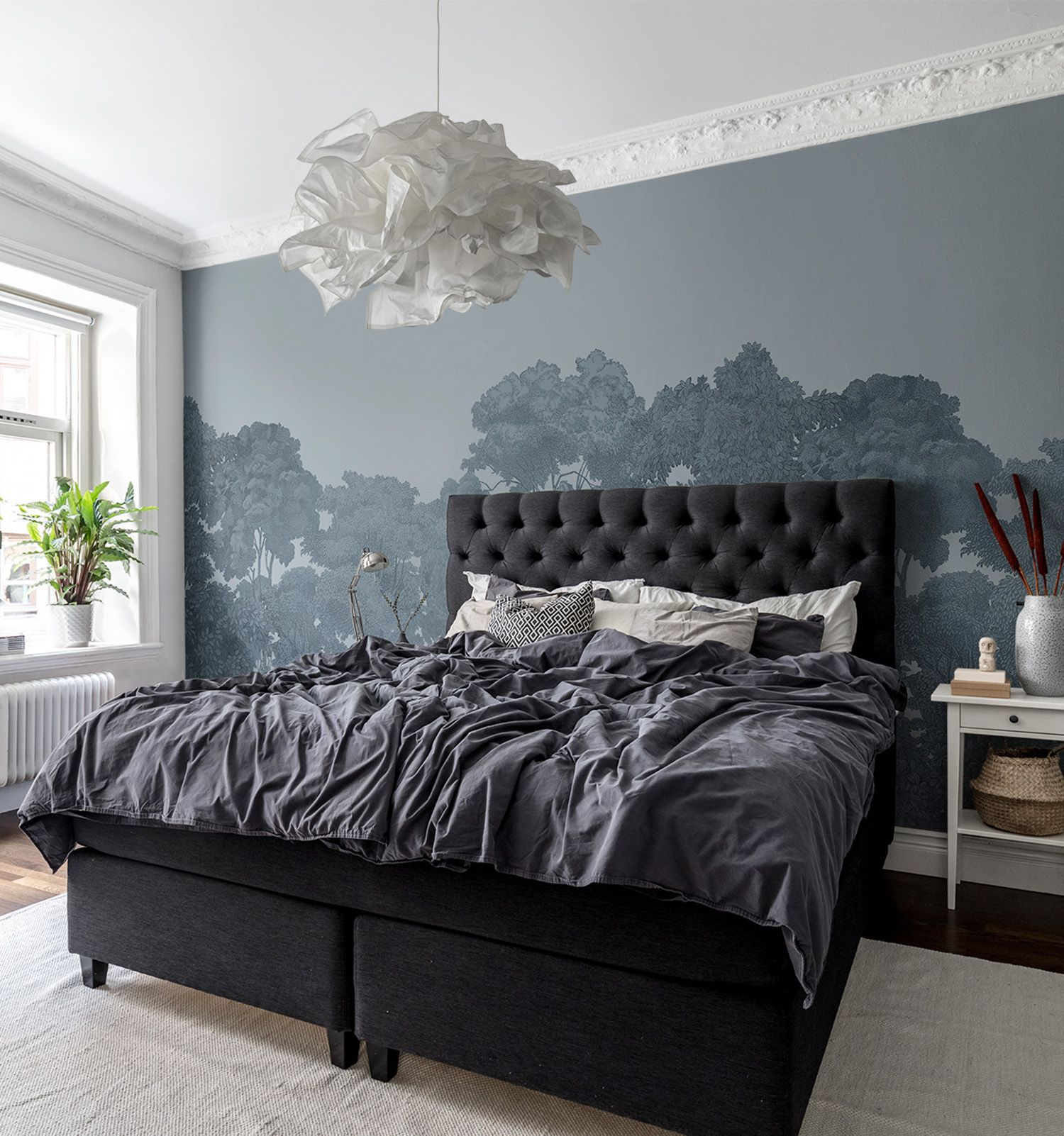 Bellewood Solid Blue In 2020 Schlafzimmer Tapete