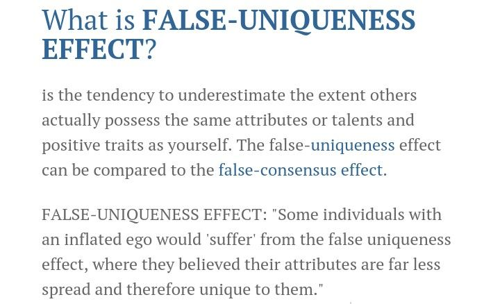 false-uniqueness effect Personalities - Humor- Psychology - psychological evaluation