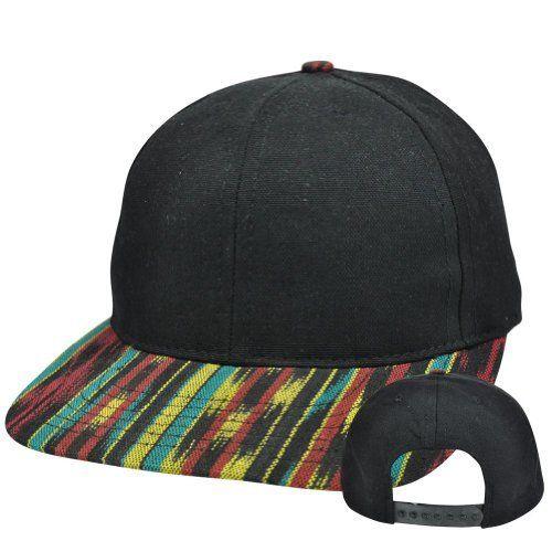 073464a5017 Jamaican Rasta Rastafarian Pattern Bob Marley Blank Flat Bill Snapack Hat  Cap by Balz out.