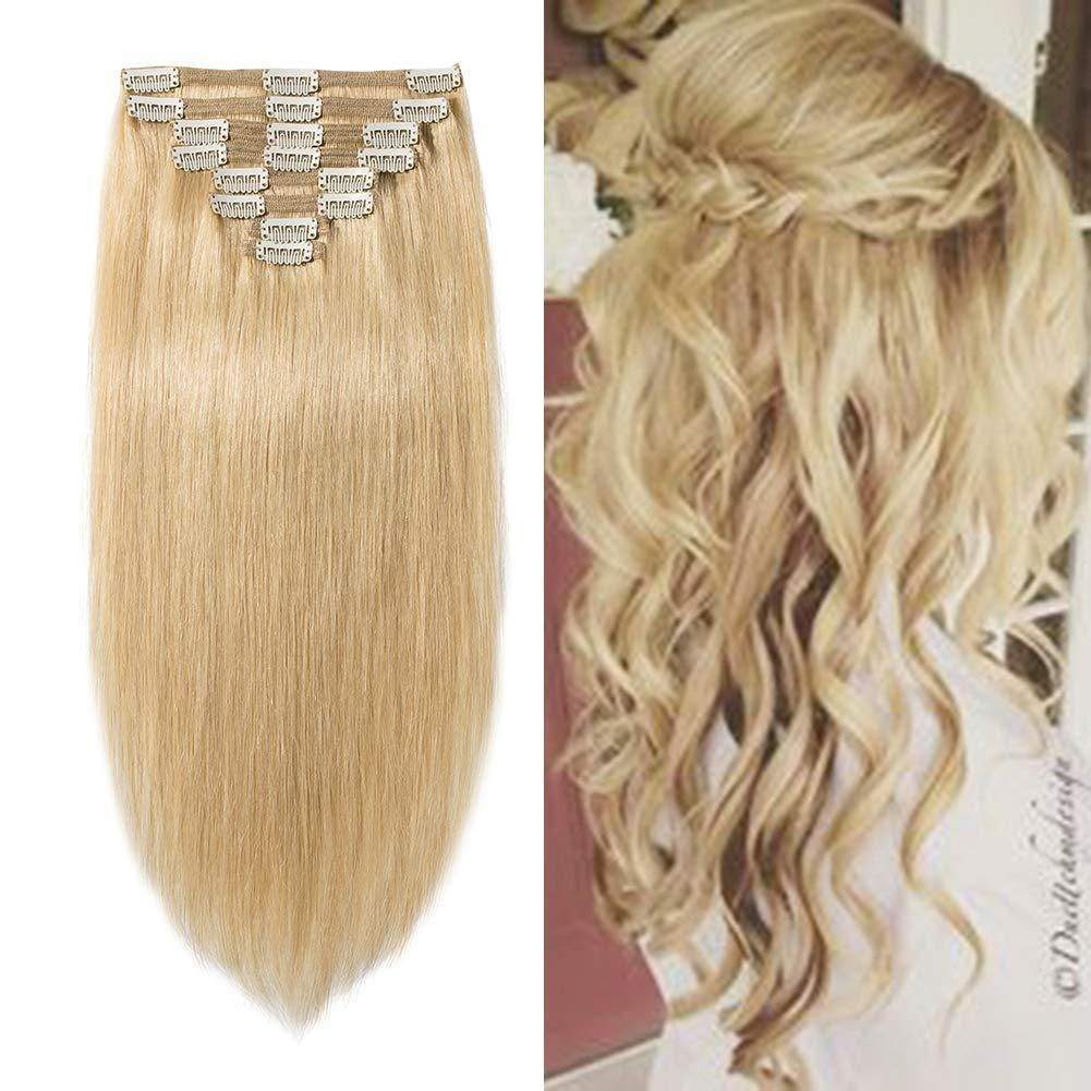 Double Weft 100 Remy Human Hair Clip in Extensions Remy