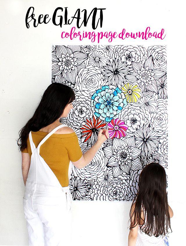 Giant Coloring Sheet : giant, coloring, sheet, Alisaburke:, GIANT, Coloring, Page!, Posters,, Pages,, Pages