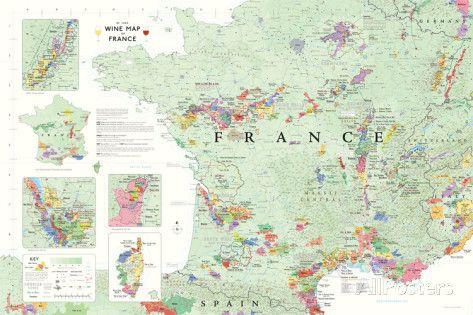 carte des vins de france poster Carte des vins en France, Poster Affiches sur AllPosters.fr (avec