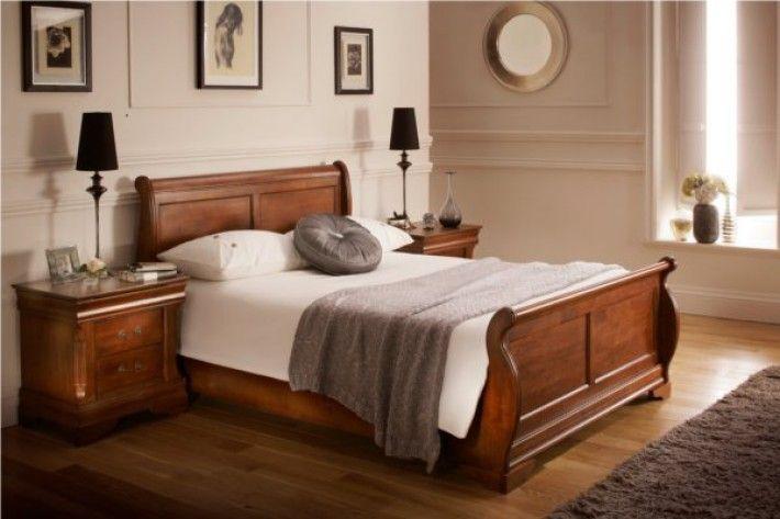 Best Louie Dark Wooden Sleigh Bed Wooden Sleigh Bed Wooden 400 x 300