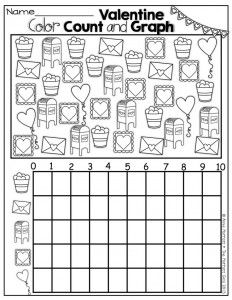 valentine 39 s day graph worksheet graph worksheet math preschool math kindergarten math. Black Bedroom Furniture Sets. Home Design Ideas
