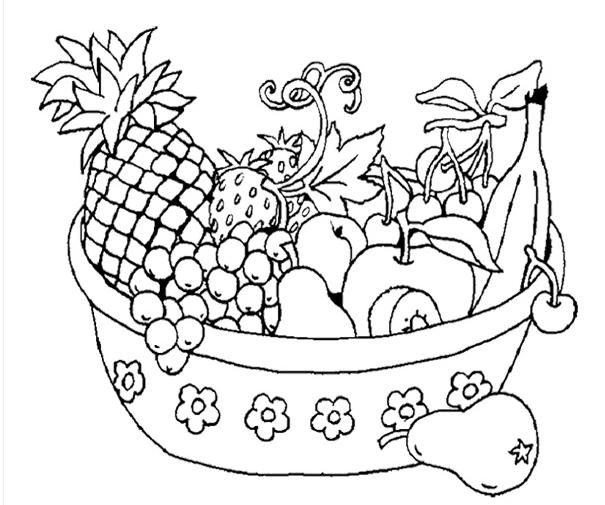 Anasınıfı Meyve Sepeti Boyama 8 Meyve Sepeti Fruit Coloring