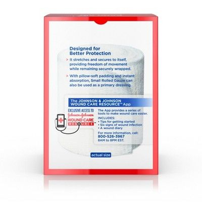 Band Aid Brand First Aid Product Flexible Rolled Gauze 2in X 2 5