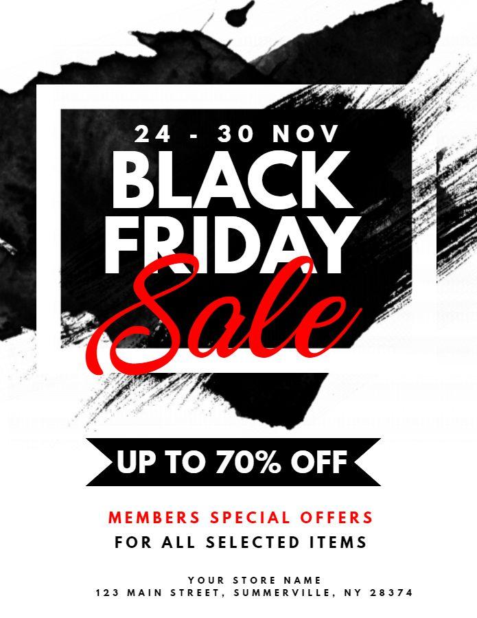 black friday sale event flyer design template