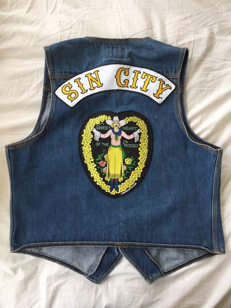Gram Parsons vintage Biker Levi s Vest with The Byrds Sin City Patches  authentic 8ac959a934d7