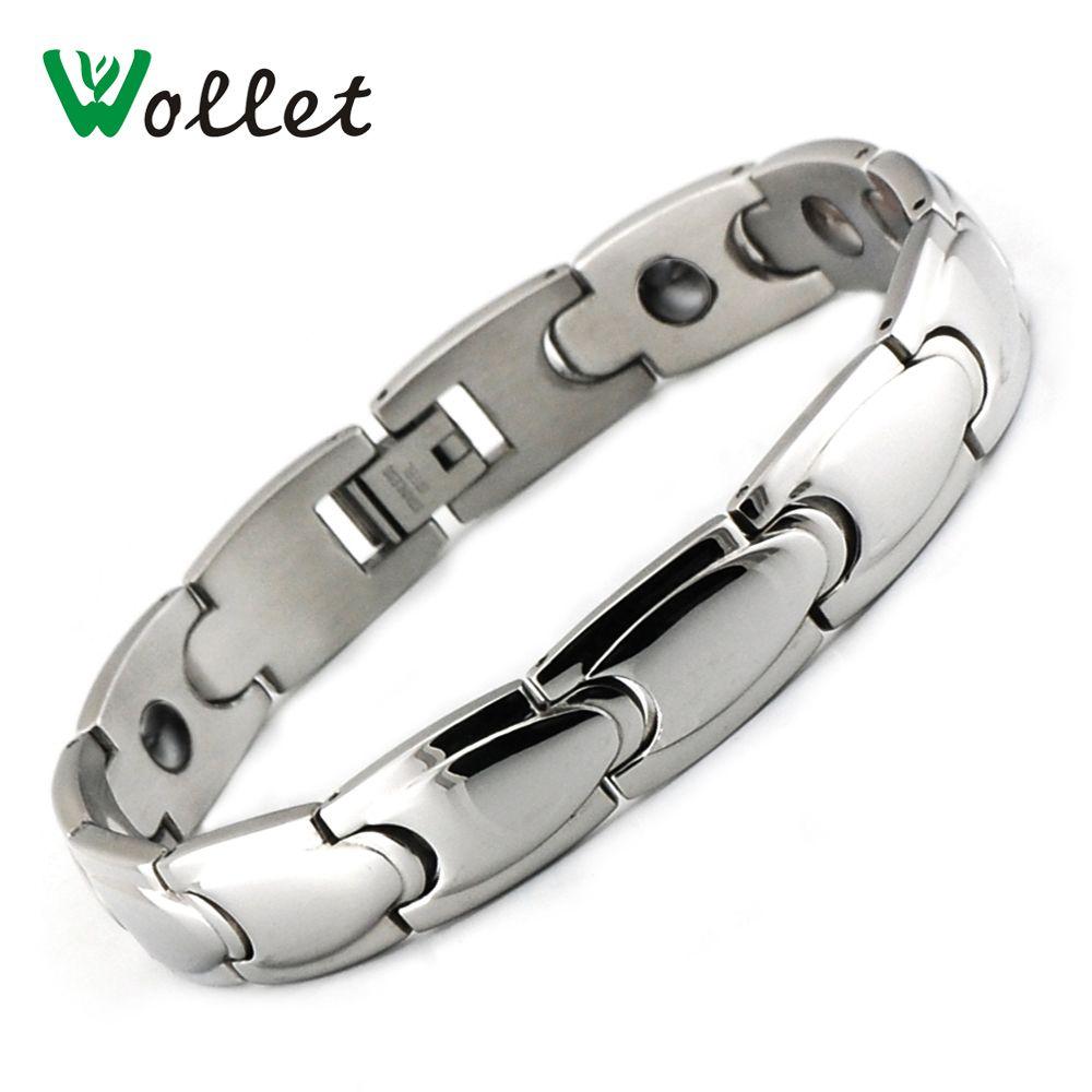 Wollet jewelry men hand chain health energy hematite germanium