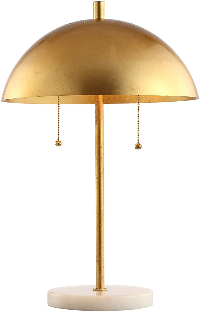 Jonathan Y Jyl1071a Ella 20 7 Dome Metal With Marble Base Led Table Lamp Classic Glam Transitional For Bedroom Living Ro Lamp Table Lamp Modern Desk Lamp