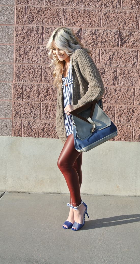 'All in 1' by Cara Loren #red #leggings #leather