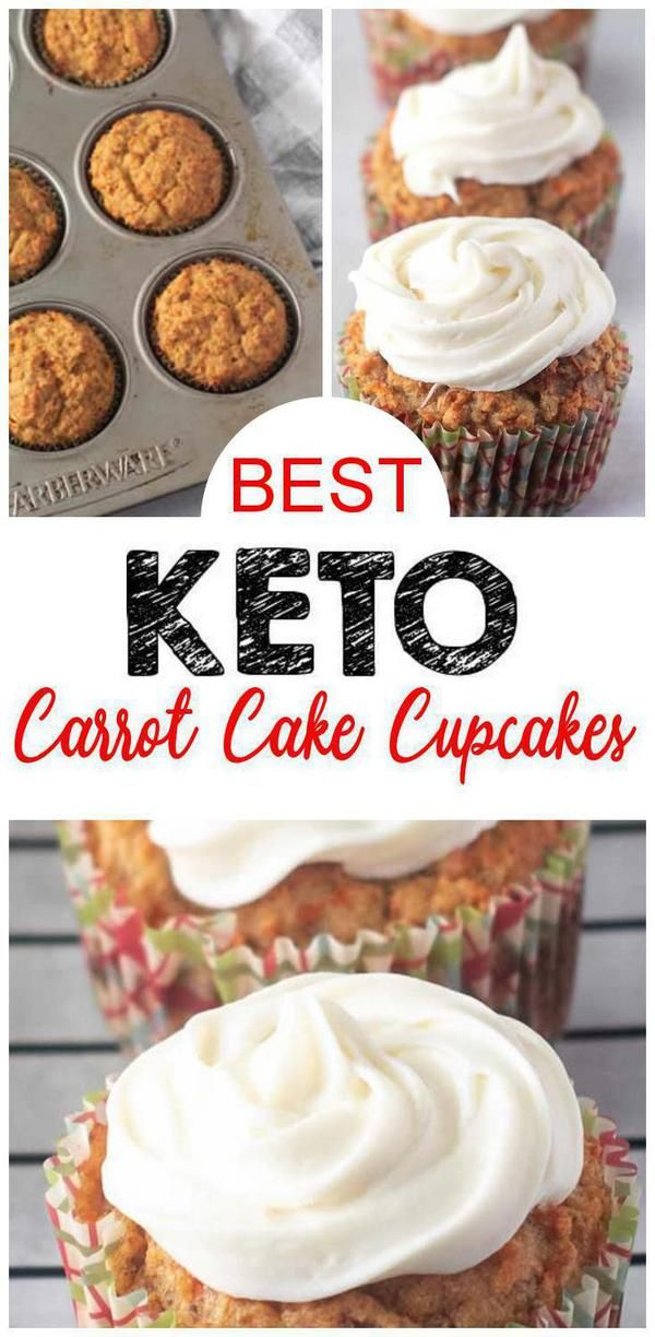 BEST Keto Cupcakes! Low Carb Carrot Cake Muffin Idea – Cream Cheese Frosting – Quick & Easy Ketogenic Diet Recipe – Completely Keto Friendly – Sugar Free – Gluten Free