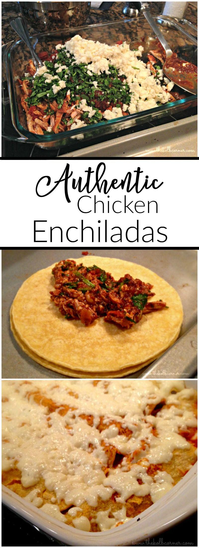 Authentic Chicken Enchiladas Recipe Crazy For Easy Recipes
