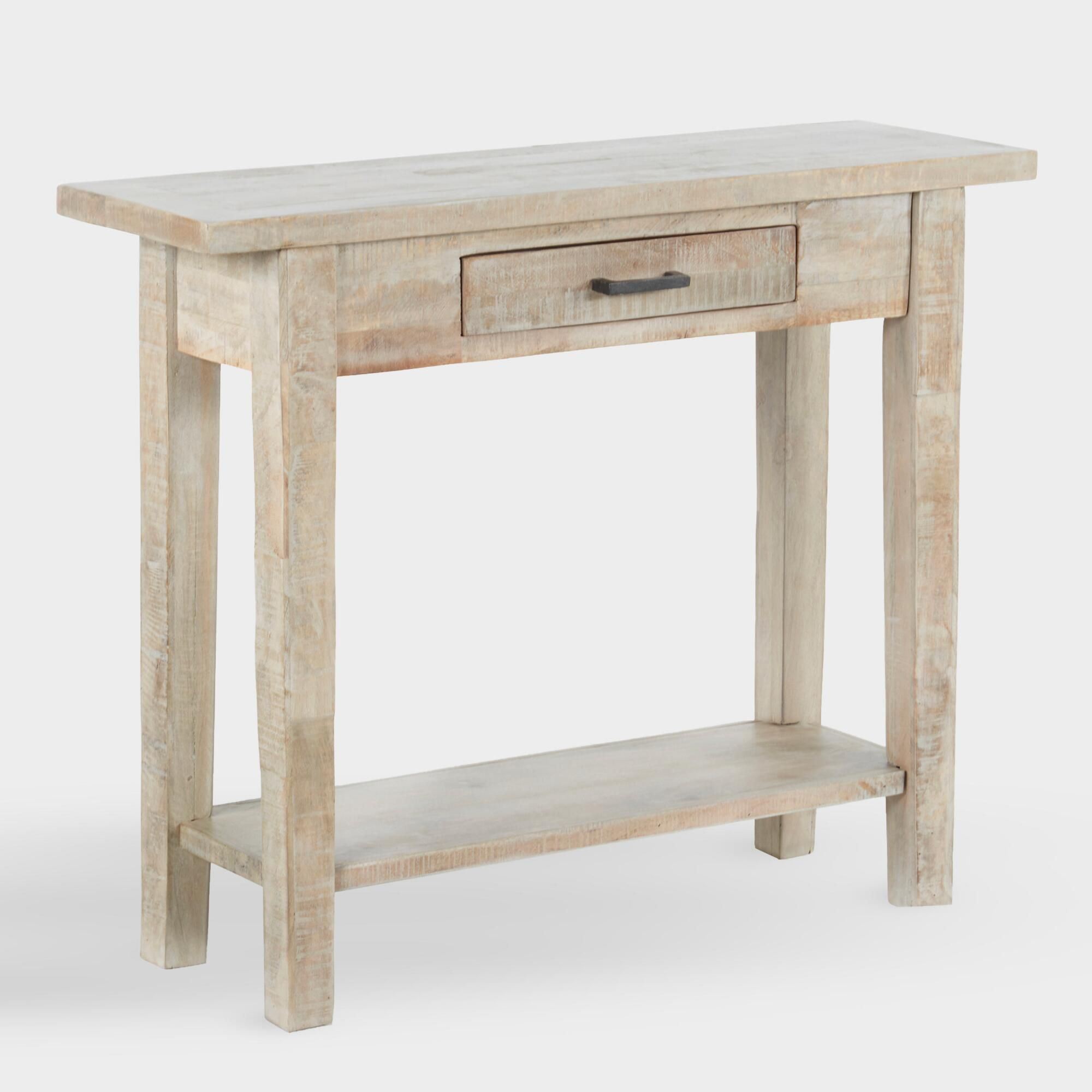 Awe Inspiring Whitewash Wood Leigh Console Table By World Market In 2019 Caraccident5 Cool Chair Designs And Ideas Caraccident5Info