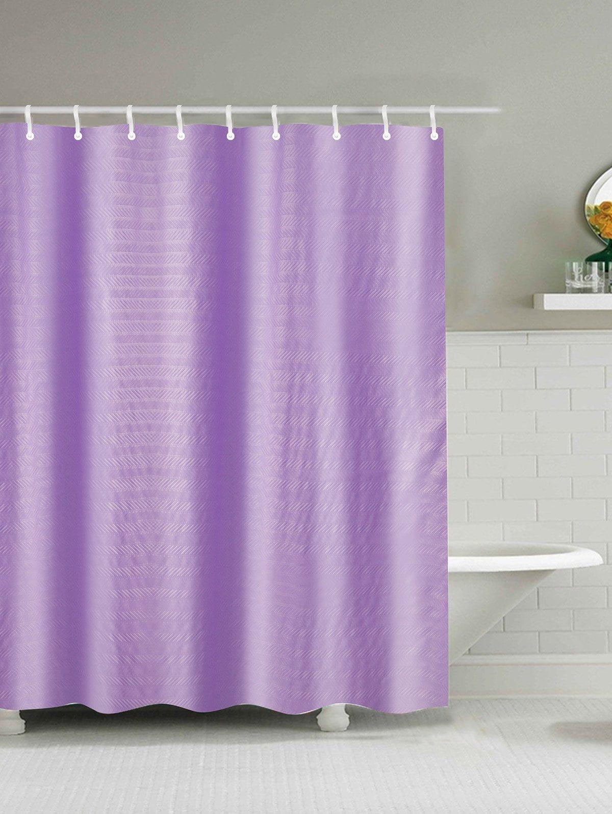 Cross Grain Polyester Waterproof Shower Curtain Cheap Shower