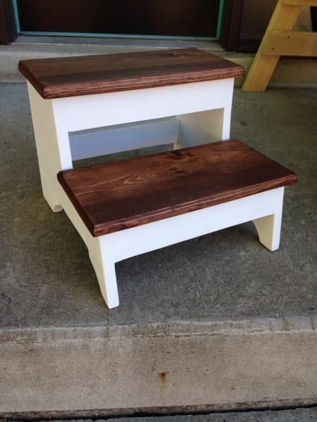 Cool I Love The Wood On White Paint Finish Step Stool Do It Gmtry Best Dining Table And Chair Ideas Images Gmtryco
