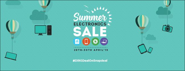 Summer Electronics Sale at Snapdeal Up to 50% OFF on