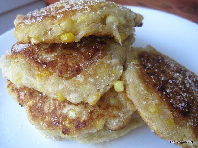 The Veggie Gal's Sweet Corn Fritters.