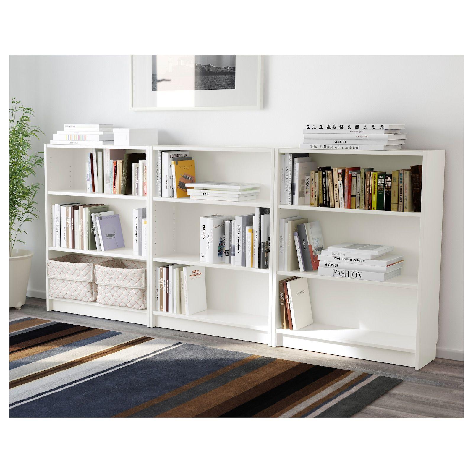 Billy Bibliotheque Blanc 240x28x106 Cm Ikea In 2020 White Bookcase Low Bookcase Ikea Bookcase