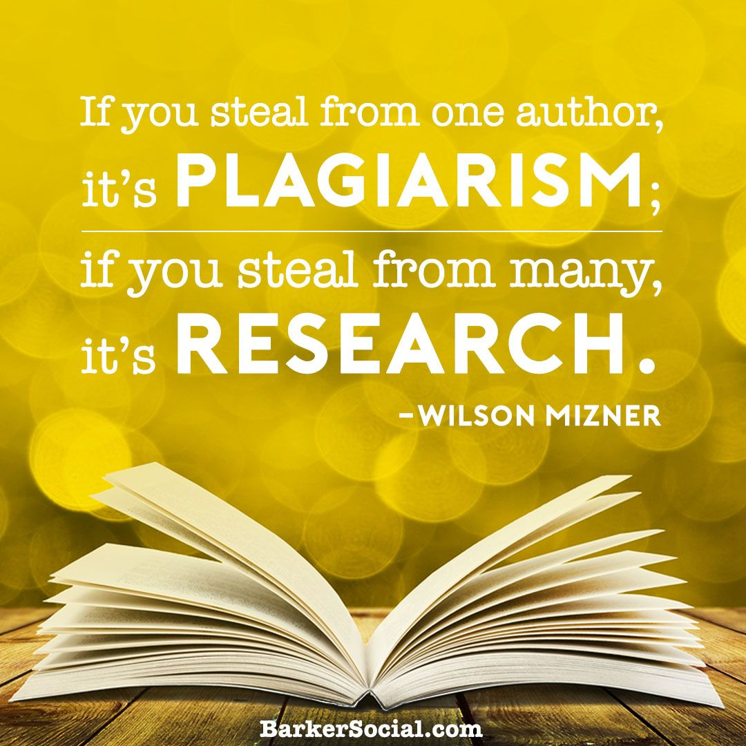 If you steal from one author it's plagiarism; If you steal
