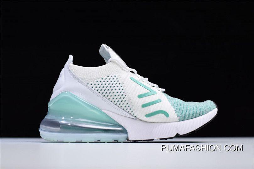 67d4a7c022039 Women Nike WMNS Air Max 270 Flyknit Igloo White Clear Emerald-Black  AH6803-301 Best