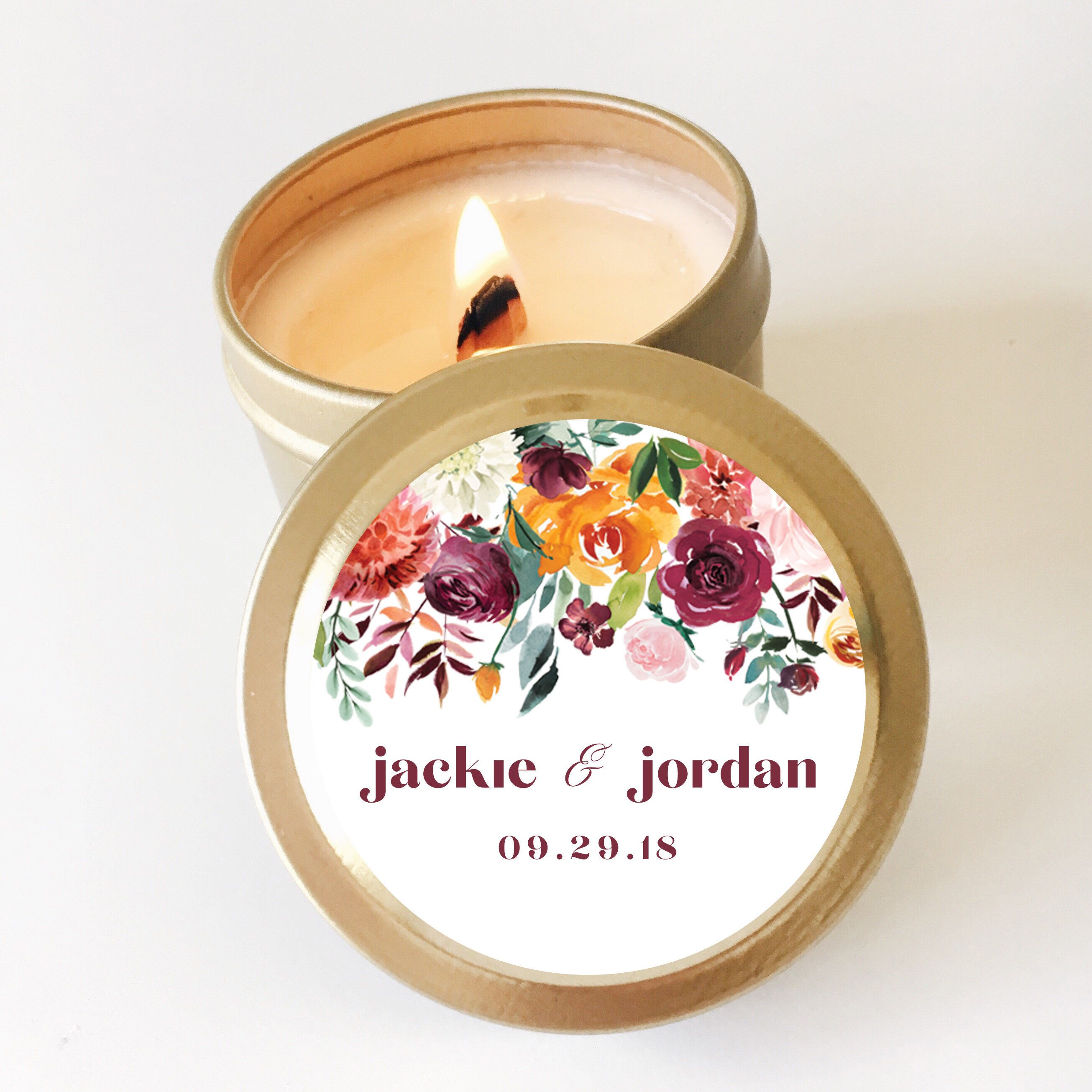 Wedding Favors, Candle Favors, Fall Wedding Favors ...