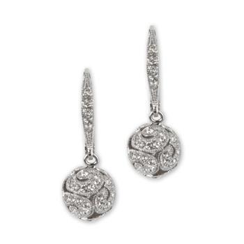Nadri Swirl Bead Earrings