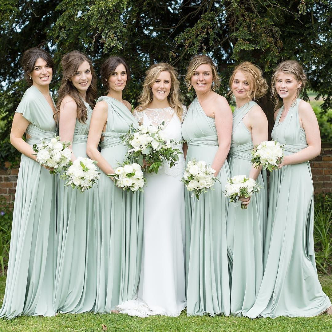 Best wedding dresses for the maids  Stunning in Sage  Maids  Pinterest  Bridesmaid Two birds