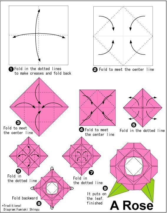 Instructiuni Trandafir Origami Research Pinterest Origami