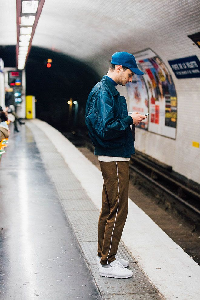 Fashion Week homme Street looks Paris automne hiver 2016 2017 90