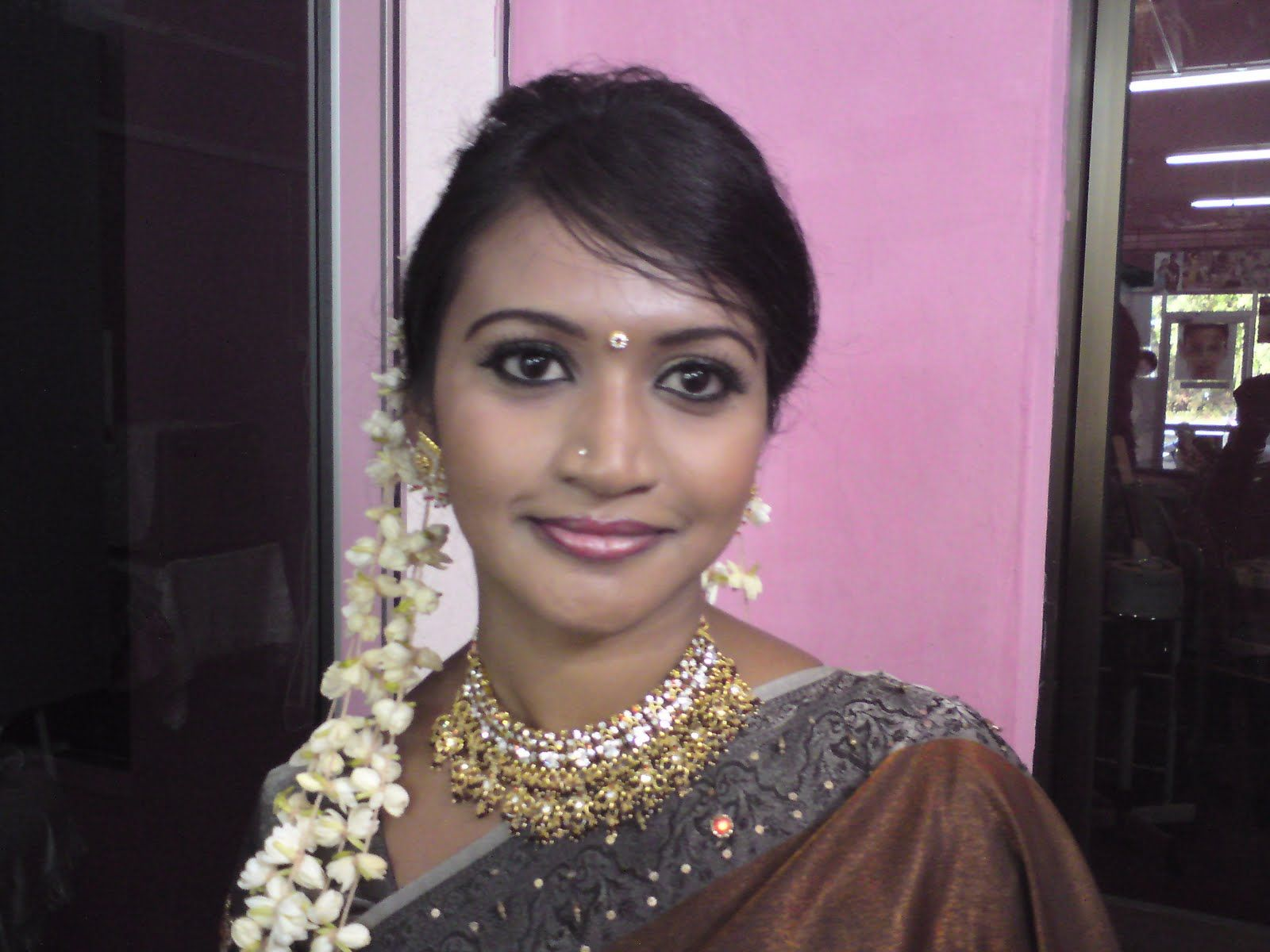 simple tamil bridal plait hairstyle with jasmine flowers | indian