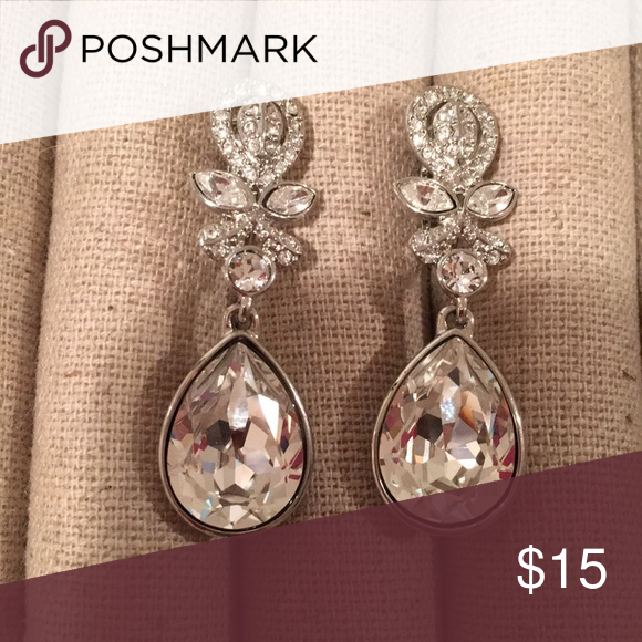 Macy S Sparkly Silver Dangly Clip On Earrings In 2018 My Posh Picks