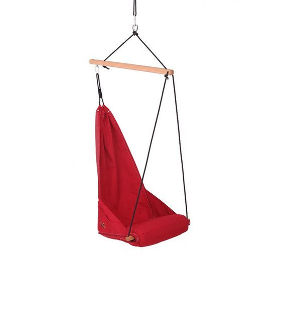 Special Patent Hanging Chair Hammock Chair Porch Swing Indoor Swing Outdoor Patio Furniture Lounge Color Red Hang Solo Model Hanging Hammock Chair