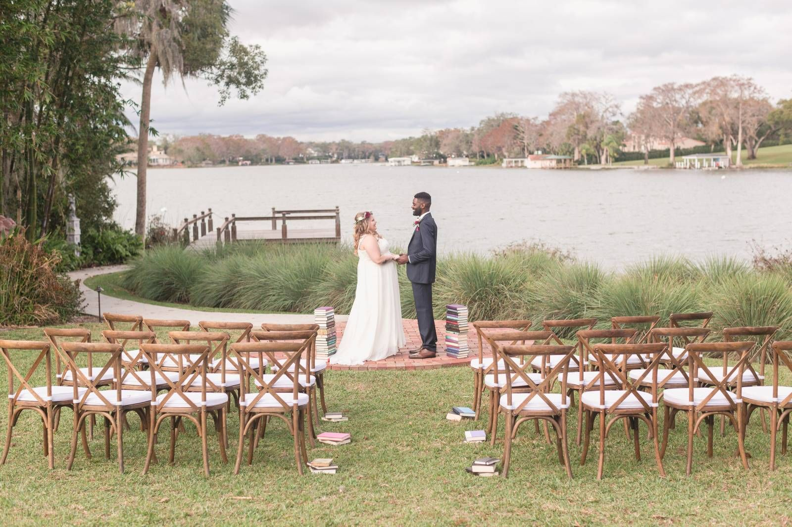 Storybook Love Inspiration Shoot Orange Blossom Bride Orlando Wedding Venues Lakefront Weddings Lake Wedding Ceremony
